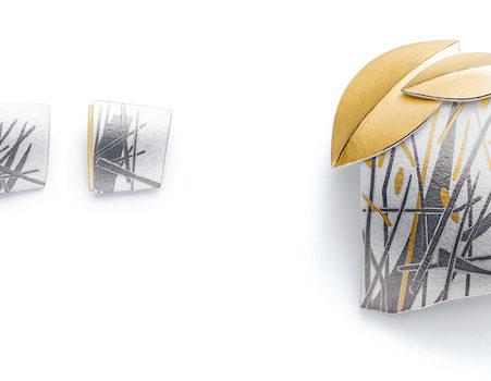 3 Anhänger in Silber mit Muster wie Gräser