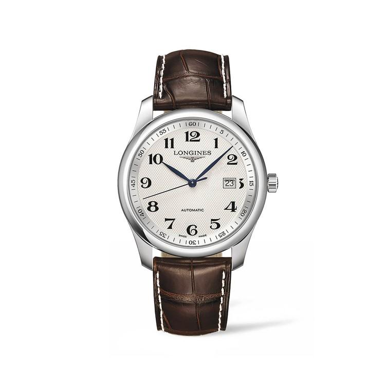 Longines Armbanduhr arabische Ziffern Lederband