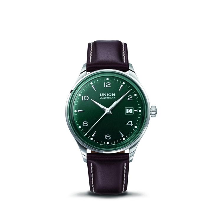 Union Glashütte Normas Datum Automatikuhr mit Zifferblatt in British Racing Green