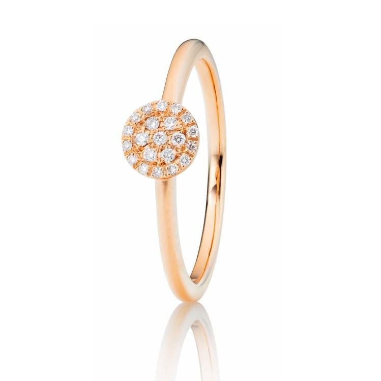 Capolavoro Ring mit brillantbesetzter Scheibe
