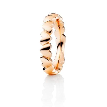 Capolavoro Ring in Roségold mit Herzen rundum