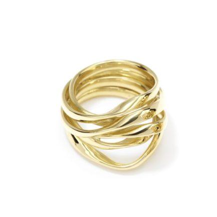 6-fach gewickelter Goldring breit