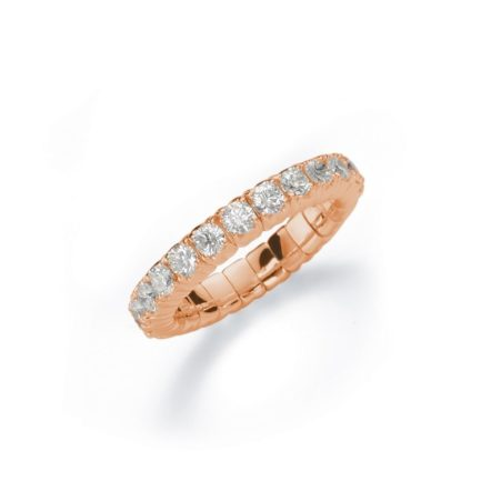 Silhouette Tennis Flex Ring mit Brillanten Rosé